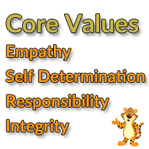 Core Values: Empathy, Self Determination, Responsibility, Integrity