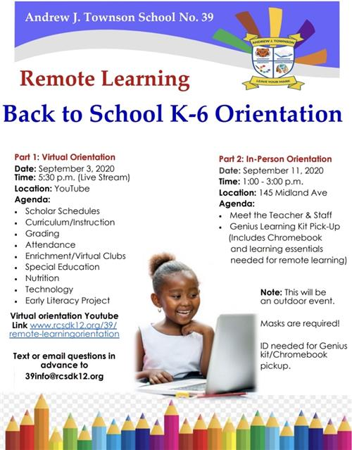 Remote Learning K-6 Orientation