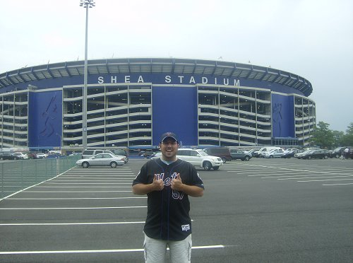Mr. Englert at Shea Stadium (RIP)