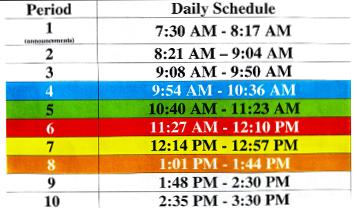 SOTA Daily Time Schedule