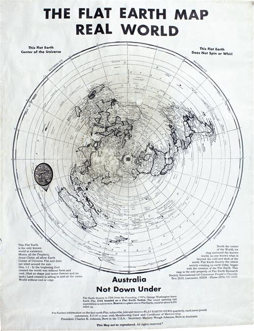 The flat earth map