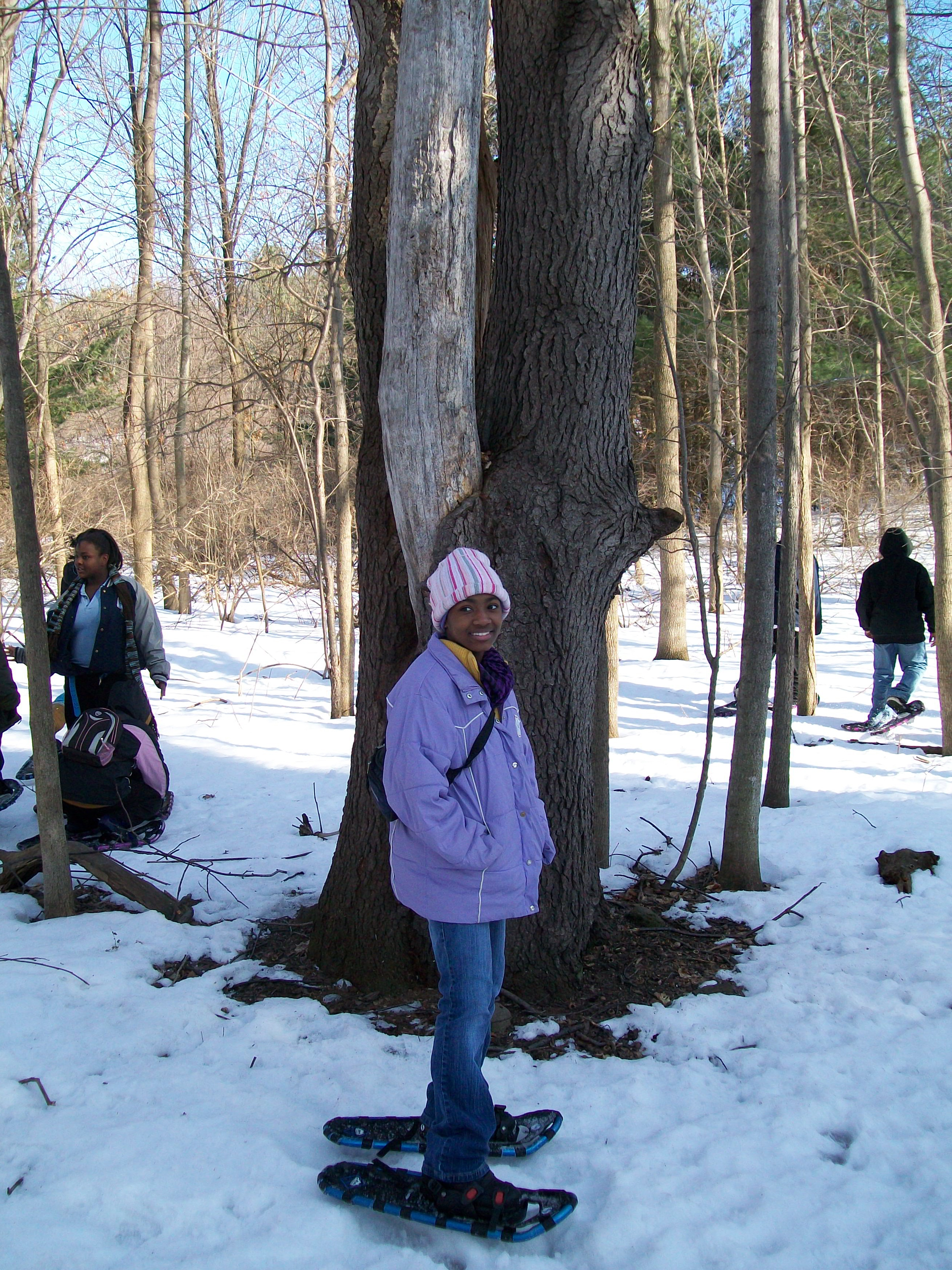 RCSD Students Snowshoeing
