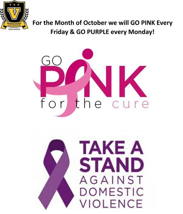 Vanguard Supports Breast Cancer and Domestic Violence Awareness