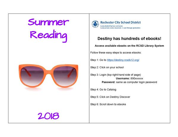 Summer Reading Resources Page 1