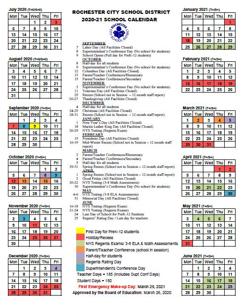 Mellenthine, J / RCSD Calendar