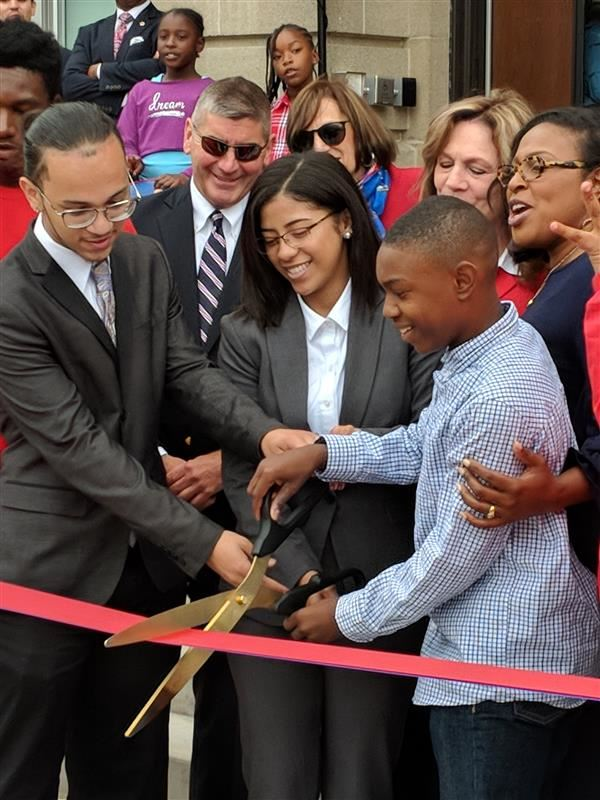 Ribbon-Cutting Events at James Monroe High School and John Walton School No. 16