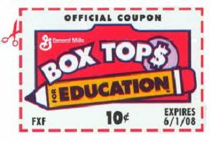 pta box tops and labels for education programs