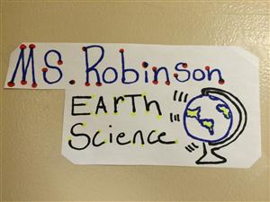 Ms. Robinson Earth Science Sign