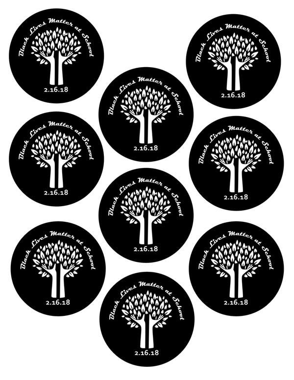 Black Lives Matter At School Buttons for 2018
