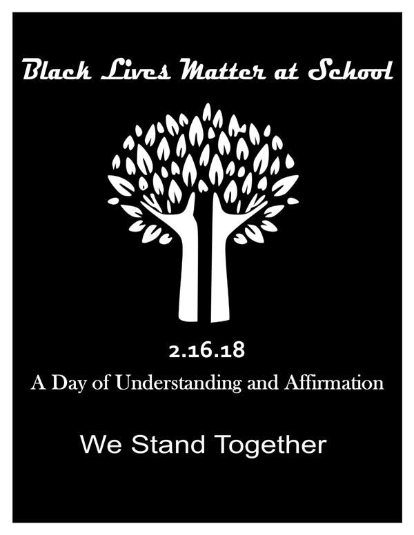 Black Lives Matter At School Poster 2018- Black Background