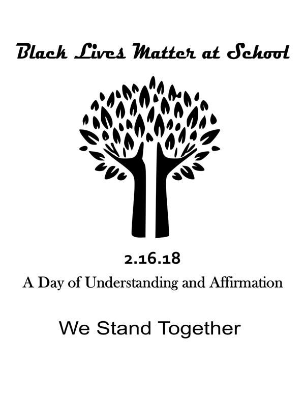 Black Lives Matter at School Poster 2018- White Background
