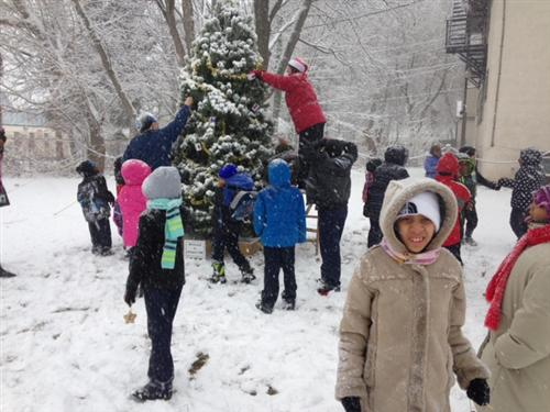 School 29 Tree Decorating