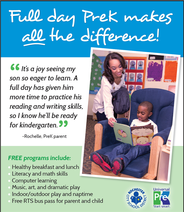 Find our about our programs, how to register, and why thousands of city parents choose Pre-K for their child!