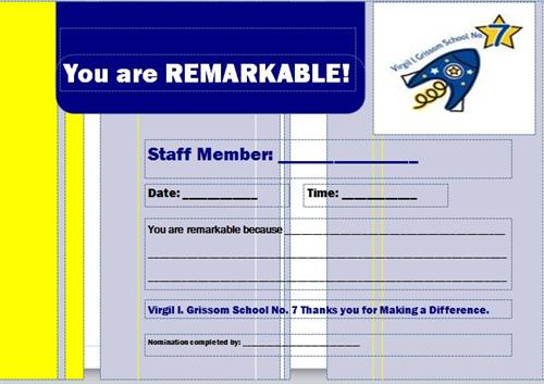 Be Remarkable Comment Cards