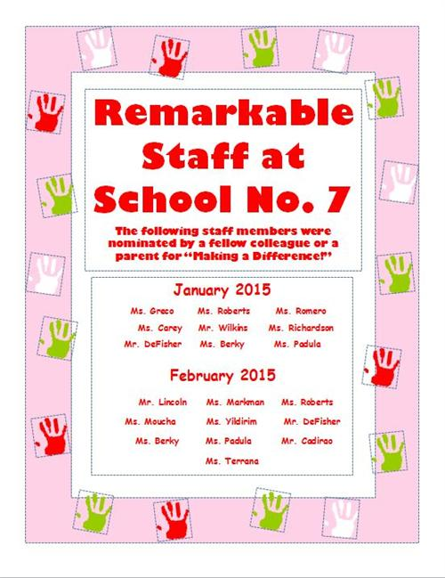 Jan And Feb Remarkable Staff