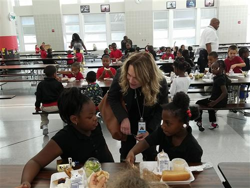 Superintendent Barbara Deane-Williams discusses school climate with students